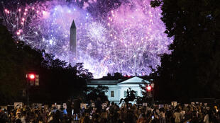 Fireworks at the White House during the Republican convention in August