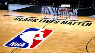 NBA empty court BLM AFP