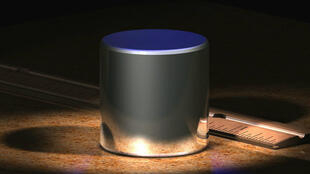 Le prototype international du kilogramme, composé d'un alliage de 90 % de platine et 10 % d'iridium.