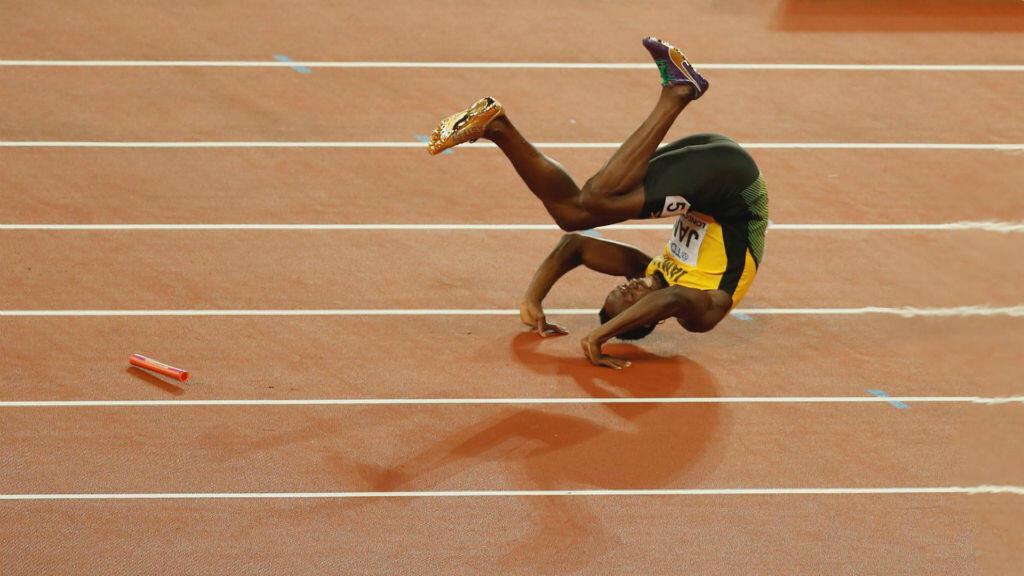 La foto fue tomada en la final del relevo masculino de 4 x 100 metros durante el Campeonato Mundial de Atletismo en Londres.