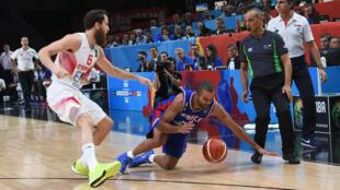 Le basketteur français Tony Parker