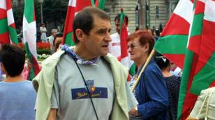 "Jose Antonio Urrutikoetxea Bengoetxea, alias ""Josu Ternera"", lors d'une manifestation en 2002."