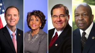 Les démocrates Adam Schiff, Maxine Waters, Jerrold Nadler et Elijah Cummings seront en charge de commissions à la Chambre des représentants.