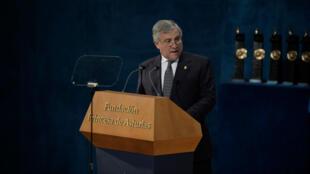 ntonio Tajani, presidente del Parlamento Europeo durante entrega del premio Princesa de Asturias 2017
