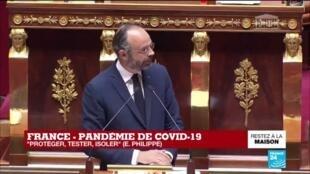 """2020-04-28 15:31 Coronavirus - Philippe à l'Assemblée : """"Si les indicateurs ne sont pas au rdv, nous ne déconfineront pas le 11 mai"""""""