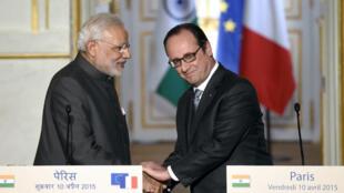 Le Premier ministre indien, Narendra Modi, a annoncé l'achat de 36 Rafale par l'Inde à la France.