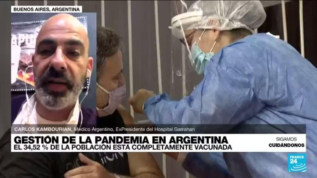 """2021-09-04 14:38 Carlos Kambourian: """"El plan de vacunación en Argentina ha sido un fracaso"""""""