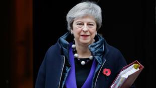 La Première ministre britannique ,Theresa May, le 31 octobre au 10 Downing Street, à Londres.