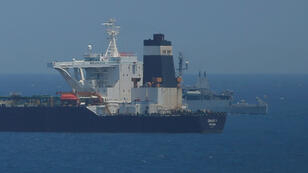 El carguero iraní 'Grace1', anclado en aguas británicas de Gibraltar. 4 de julio de 2019.