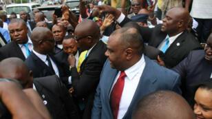 Jean Pierre Bemba à son arrivée à l'aéroport de Kinshasa, après 11 ans d'absence, le 1er août 2018