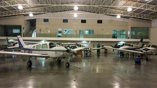 Brazilian police released an image of seized planes in a hanger following an anti-drug operation