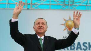 Recep Tayyip Erdogan, lors d'un discours prononcé à Bayburt, le 10 août 2018, pour tenter de rassurer les marchés.