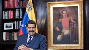 الرئيس الفنزويلي نيكولاس مادورو في كاركاس، في 5 يناير 2019