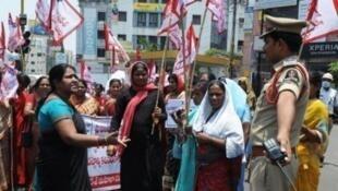 مظاهرة منددة بالاغتصاب في الهند في 2014