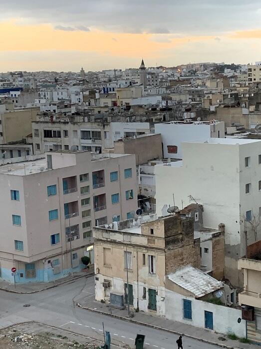 نظرة عامة لتونس العاصمة التي تحيي بمرور 10 سنوات على الثورة 13 كانون الثاني/يناير 2021.