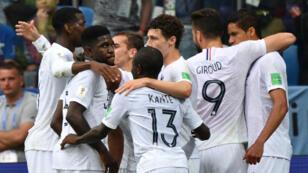Les Bleus sont qualifiés pour les demi-finales de la Coupe du monde 2018.