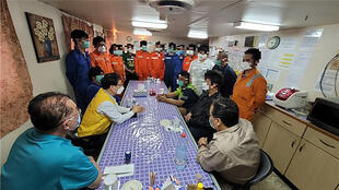 crew of hankuk chemi south korean tanker