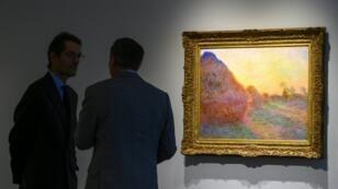 La pintura, de 72 cm por 92 cm, forma parte de una serie pintada por Monet durante el invierno de 1890-1891 en su casa de Giverny.