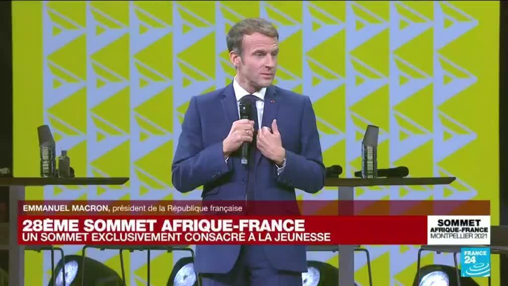 """2021-10-08 16:04 Sommet Afrique-France : Macron veut """"un avenir choisi et construit ensemble"""" avec le continent"""