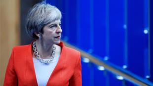 La primera ministra británica, Theresa May, dirigiéndose al congreso del Partido Conservador en Birmingham, Reino Unido, el 30 de septiembre de 2018.