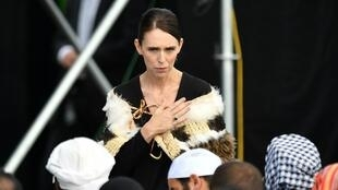 La Première ministre de Nouvelle-Zélande, Jacinda Ardern, à la cérémonie en mémoire des victimes du massacre de Christchurch, le 29 mars 2019.