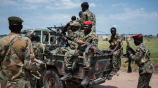 Des soldats du SPLA au Soudan du Sud en octobre 2016.