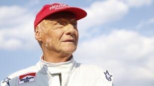 Niki Lauda le 30 juin 2018 à Spielberg, lors du Grand prix d'Autriche.