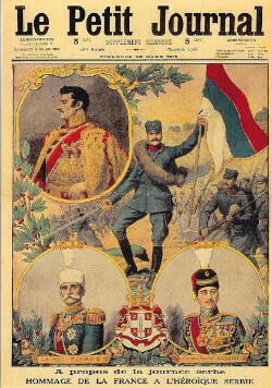 """French newspaper """"Le Petit Journal"""" gives ample coverage to the """"Serbian Day"""" organised in support of France's Balkan ally."""