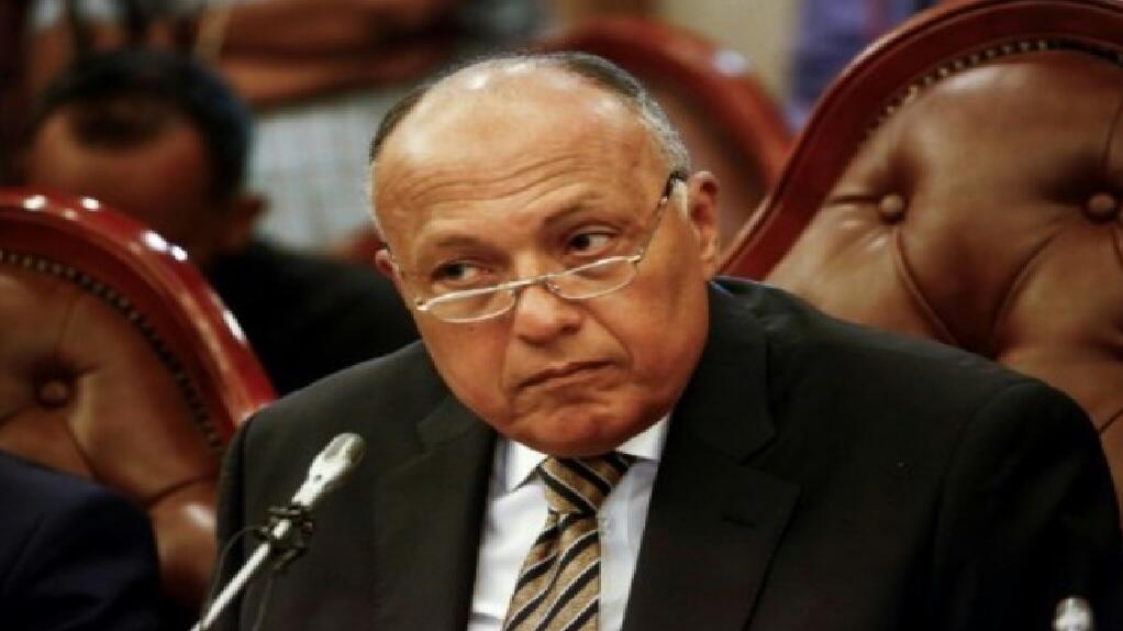 وزير الخارجية المصري سامح شكري في 3 آب/اغسطس 2017 خلال زيارة إلى الخرطوم