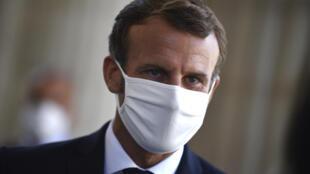 Emmanuel Macron au Panthéon le 4 septembre 2020 pour les 150 ans de la proclamation de la République