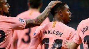 البرازيلي مالكوم، صاحب هدف برشلونة أمام إنتر. 2018/11/07.