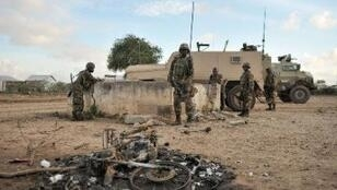 Des soldats de l'Union africaine en Somalie, le 31 août.