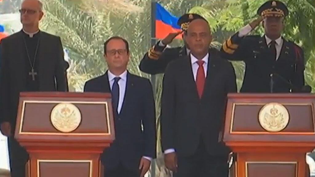 François Hollande et Michel Martelly le 12 mai 2015 à Port-au-Prince.