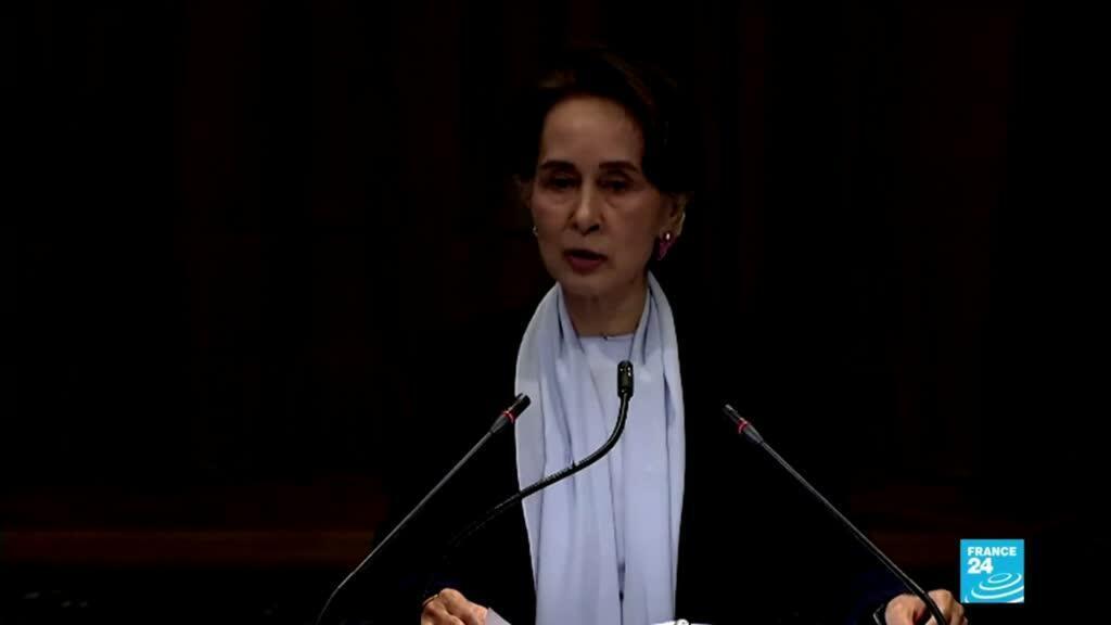 """2019-12-11 11:05 La Birmane Aung San Suu Kyi nie devant la CIJ toute """"intention génocidaire"""" contre les Rohingya"""