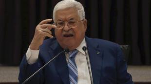 محمود عباس في 18 أغسطس/آب 2020.