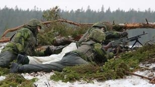 Young recruits based on the Baltic island of Gotland, seen here undergoing routine training, are at the forefront of Sweden's efforts to bolster its military as Stockholm worries about Russian intentions in Europe and the Baltic
