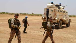 Des soldats de la Minusma, le 26 avril 2017, à Fafa, à 165 km de Gao.