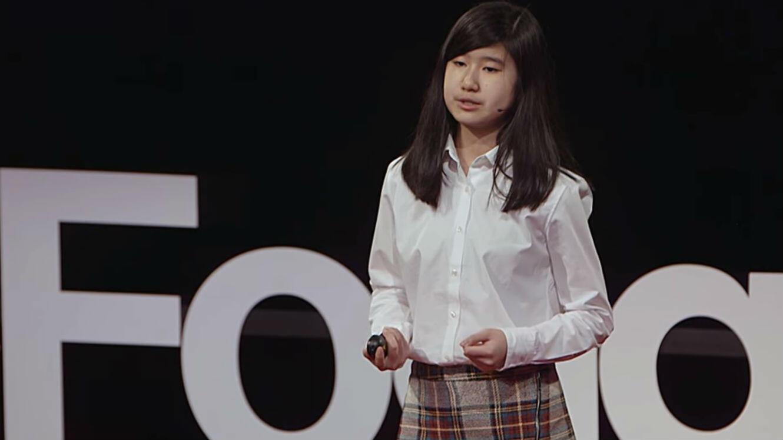 Emma Yang, 14 ans, raconte dans un Ted Talk comment elle a eu l'idée de développer son appli.