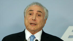 Michel Temer prononce un discours à Brasilia, le 2 août 2017.