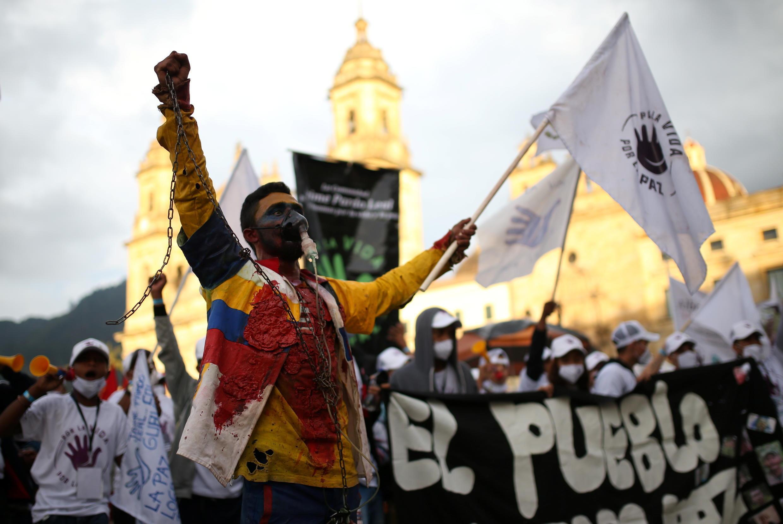 FARC-COLOMBIA-PEACE-PROTEST