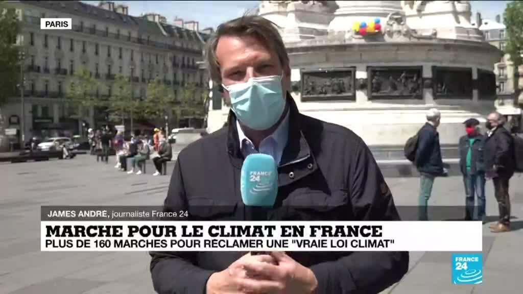 """2021-05-09 13:01 Plus de 160 marches pour réclamer une """"vrai loi climat"""""""