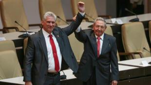 Miguel Díaz-Canel asumió como nuevo presidente del Consejo de Estado de Cuba ante la Asamblea Nacional del Poder Popular, el 19 de abril de 2018.