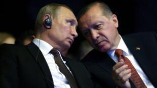Vladimir Poutine et Recep Tayyip Erdogan, en décembre 2016.