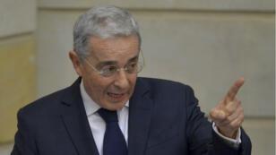 L'ancien président Alvaro Uribe est un farouche opposant à l'accord de paix avec les Farcs.