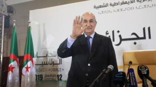 الرئيس الجزائري المنتخب عبد المجيد تبون، في 13 ديسمبر/كانون الأول 2019