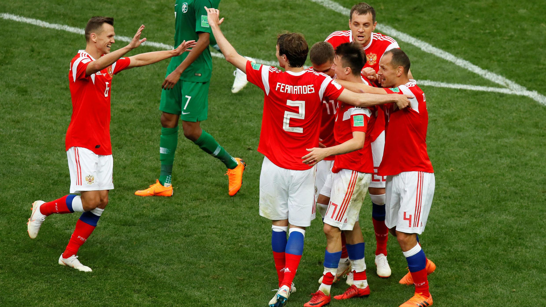El encuentro finalizó con una importante victoria para los anfitriones, que ganaron 5 - 0 a los sauditas.