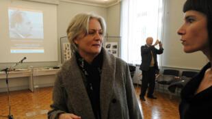 Penelope Fillon, le 10 décembre 2010, à l'Hôtel de Ville de Sablé-sur-Sarthe.