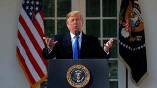 El presidente de EE: UU., Donald Trump, declaró la emergencia nacional en la frontera entre Estados Unidos y México. Washington, EE. UU., el 15 de febrero de 2019.