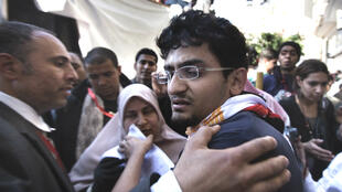 Wael Ghonim, photographié en 2011 près de la célèbre place Tahrir, berceau de la révolution égyptienne.