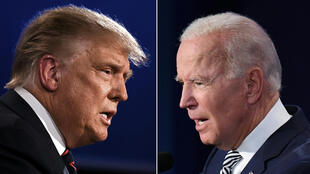 US President Donald Trump (L) and Democratic presidential challenger Joe Biden (R) engaged in a feisty, chaotic debate that touched on a variety of subjects -- and included plenty of insults